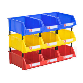 one pack stackable garage part storage bin nuts bolts plastic box - Stackable Storage Bins