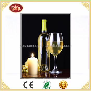 Wine bottle subject led wall art for home LED picture wall picture