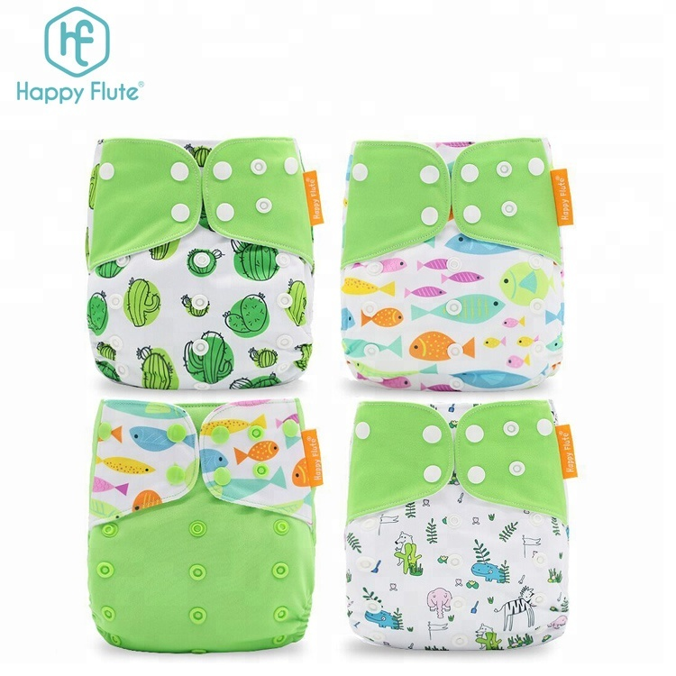 HappyFlute Fashion design high quality eco friendly cloth baby reusable diaper, More than 300 colors
