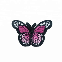 Beautiful Stock Design Butterfly Embroidery Patch with Adhesive Back