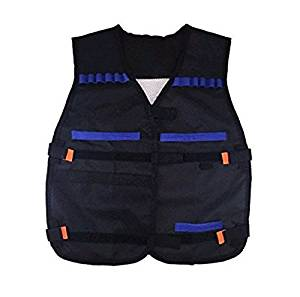 iThings J 1 Pcs Black Children Elite Tactical Vest Military Holster Kids for Nerf GUN N-strike Elite Birthday Christmas Gift Set,Nerf Vest,Nerf Tactical Vest,Nerf Tactical Vest Kit,Nerf Vest Kids