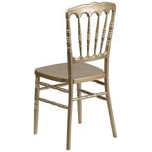 Modern wedding chateau royal metal aluminum steel castle banquet napoleon chair in Wedding
