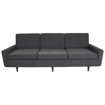 Florence Knoll Classic Italian Leather Sofa 3 Seat Fabric Sofa