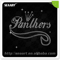 ali express hot products panther paw rhinestone iron on transfer