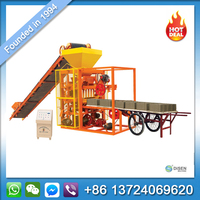 Manual mobile wood sawdust cement paving automatic fully hydraform interlocking concrete hollow block brick making machine price