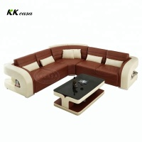 Living room U shape leather sofa sets Modern Corner Living Room Sectionals Contemporary Sofa