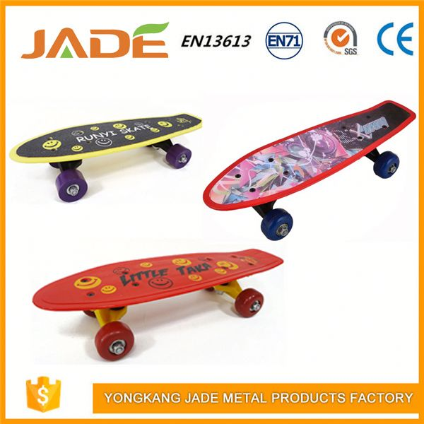 Plastic fish skate longboard colorful 17inch skateboard mini fishboard for kids
