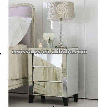 antiguo espejo muebles vidrio reflejado noche cajones de consola
