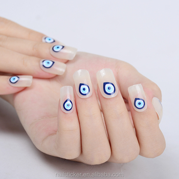 Blue Nazar Eye Nail Art Printer 2017 New Design Sticker Temporary