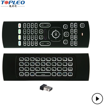 Android TV BOX Remote MX3 LED 2.4G smart Fly Air Mouse Wireless Keyboard control PC
