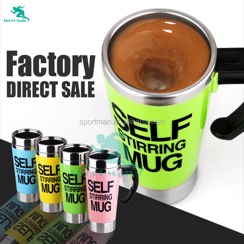Amazon Hot Sale 500ml Mixing Cup Self Stirring Electric Coffee Mugs import from china