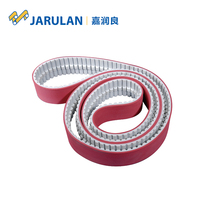 truly endless customized size PU timing belt coated red rubber manufacturer
