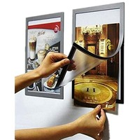 Pack of 2 A4 Double Side Adhesive Window Sign Holder Display Poster Frame for Wall/ Door/ Cupboard