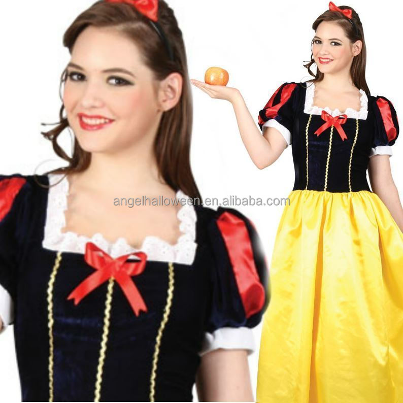 Adult Princess Snow white Costume Cosplay Made Ladies Fairytale Party Ball Dress AGC2196