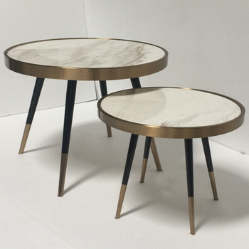 High And Low Round Small Tea Tables For Living Room Sofa Center