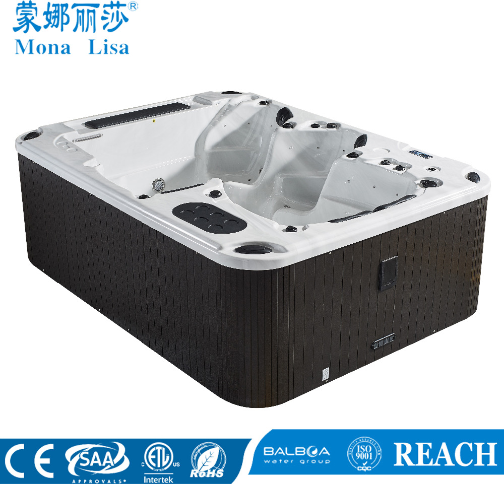 Top Quality USA Balboa 3 meter long large USA Aristech acrylic outdoor spa rectangular hot spa tub M-3307