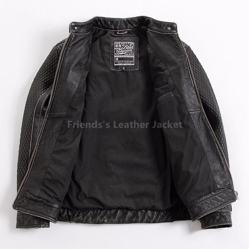 b1650966f94 2019 2018 Vintage Black Men Skull Leather Motorcycle Jacket Plus ...