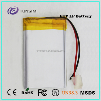 3.7V 1200mAh rechargeable small high capacity lithium polymer battery for electric storage