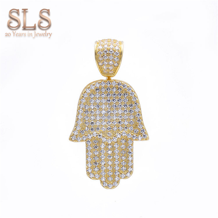 Fashion gift hip hop american diamond jewellery in india famous jewelry designers hamsa charms