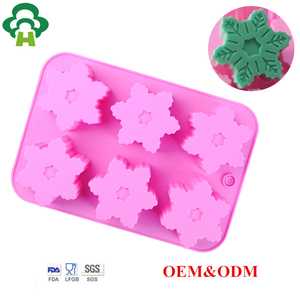 Customized snowflake shape 3d silicone cake pudding molds ice soap maker tool handmade soap natural handmade soap wholesale