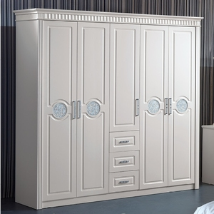 Ivory White color MDF modern MDF wardrobe