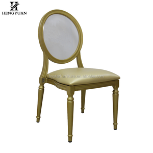 Stacking Metal Hotel Banquet Restaurant Party Gold Acrylic Wedding Rental Event Chairs