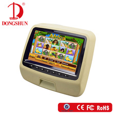 new arrival 9 inch car headrest dvd player with usb port/wireless game