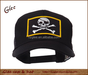 Skull and Choppers Embroidered Mesh Cap Trucker Hat
