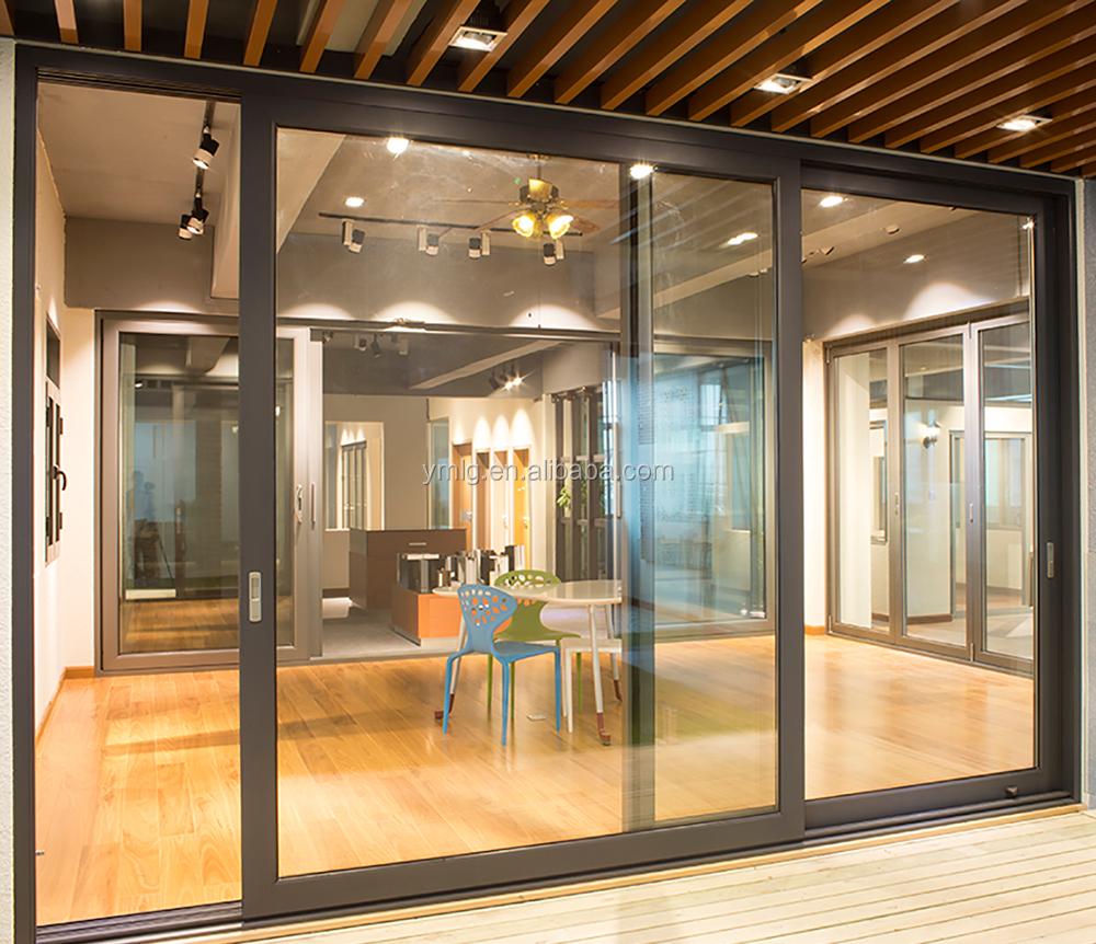Venta Al Por Mayor 3 Panel De Puertas Correderas De Cristal Compre  ~ Puerta Corredera Cristal Exterior