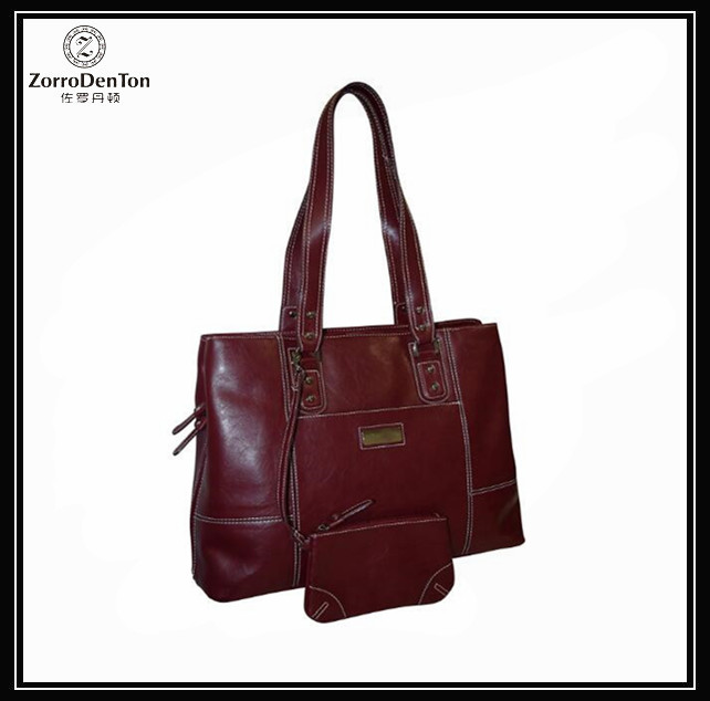 High Quality Leather Women's Business Laptop Tote Bag