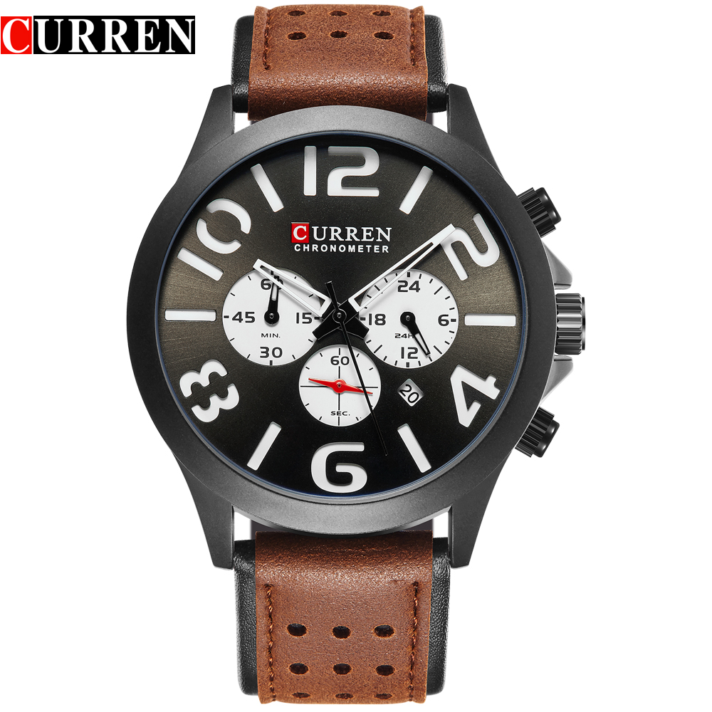 CURREN M8244 Brand Luxury Chronograph Quartz Watches Men Sport