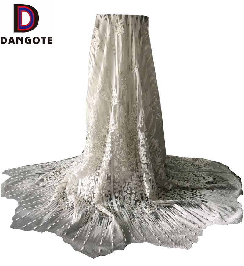 New arrival top quality african/french lace with beads and 3D flowers for party/wedding dress
