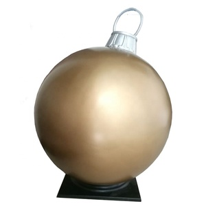 Outdoor Christmas Ornament Crafts Large Fiberglass Christmas Ball For Shopping Mall