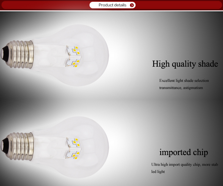 Chinese Manufacturer 360 Degree Led Lights A60 5w Led