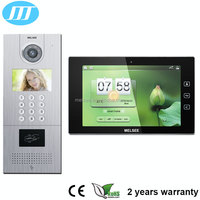 Hands-free 10inch LCD color touch screen Digital multi apartment ip video door phone with RJ45 connector