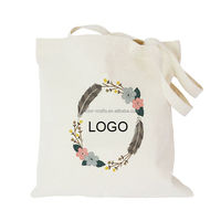 12oz Customized logo print screen imprint shopping custom canvas bag