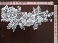 Decorated wedding embroidery lace motif