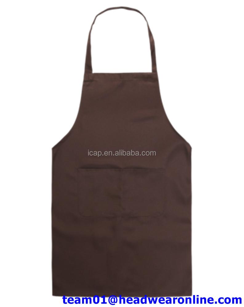 Plain white kitchen apron - Plain White Kitchen Apron 22