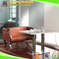 (SP-KS173) Custom made commercial faux leather office sofa for sale
