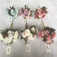 Wholesale silk and velvet artificial flower rose flower for decoration and wedding