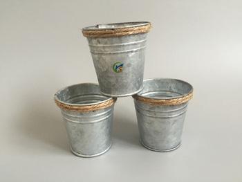 Galvanized metal decoration mini buckets buy buckets for Galvanized metal buckets small