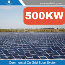 Industry use 500kw solar system for home electricity include 250w solar modules pv panel also with dc to ac inverter