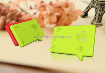 Hot sale Factory supply new design ABS recordable plastic voice card