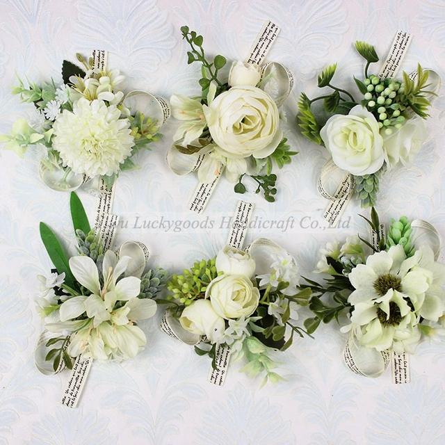 Lbf030 Cheap 5pcs Silk Artificial Dahlia Corsage Flowers Head For