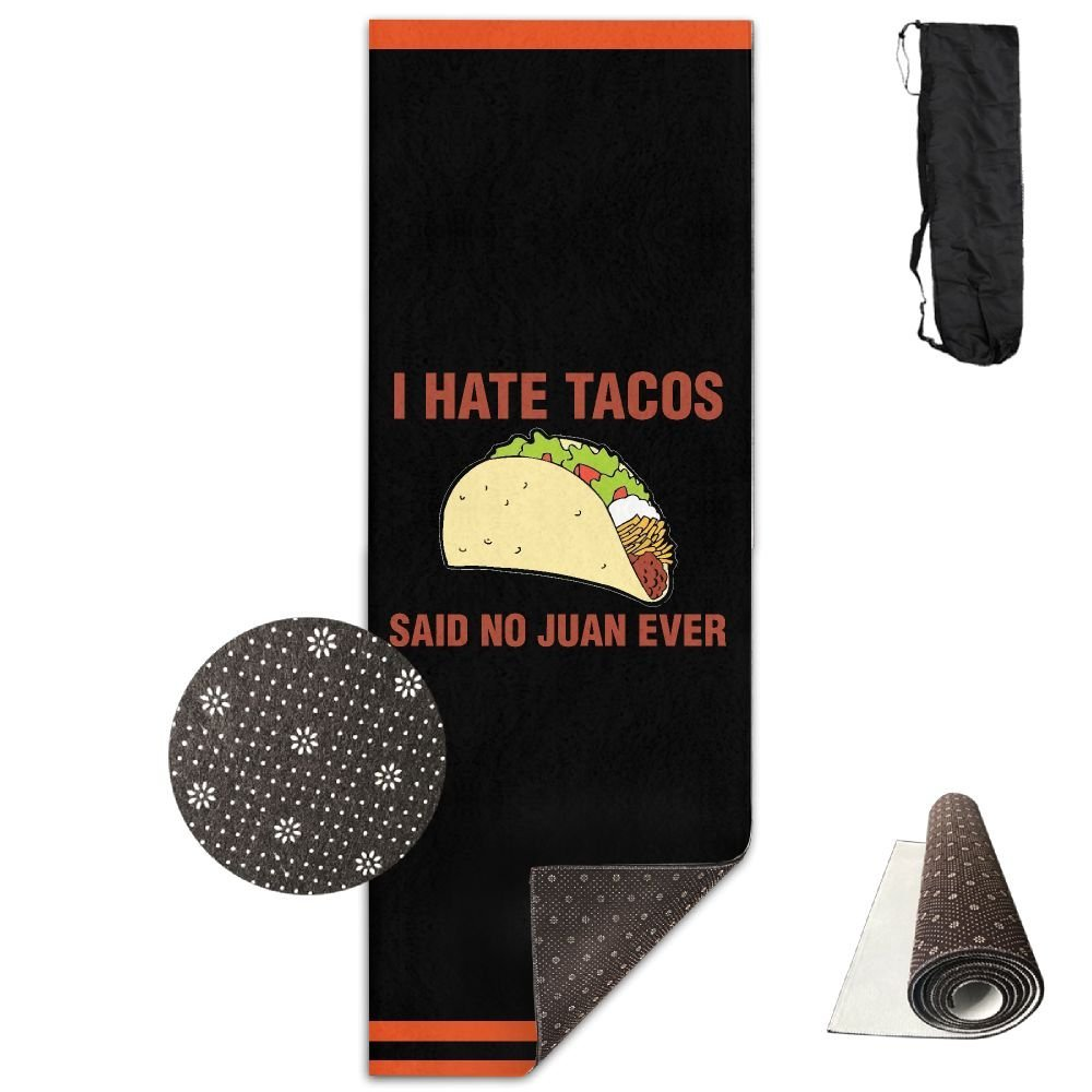 6bc7c2c33af44 Get Quotations · I HATE TACOS Said No Juan Ever Yoga Mat Towel For  Bikram Hot Yoga