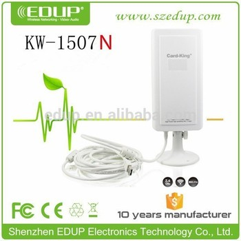 Edup 150m Outdoor Waterproof Ralink Rt3070 5000mw Wifi Usb Wireless Adapter  Kw-1507n - Buy High Gain Wireless Usb Adapter Antenna,5000mw Wifi Usb