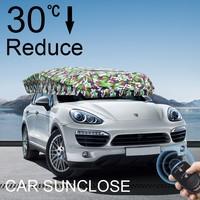 SUNCLOSE Factory logo printing beach umbrella auto sun visor organizer prado spare tyre cover