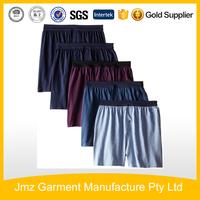 Customize men comfortable boxer shorts 100%cotton knit underwear