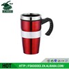 New design stainless steel coffee mug with handle suitable for car holder