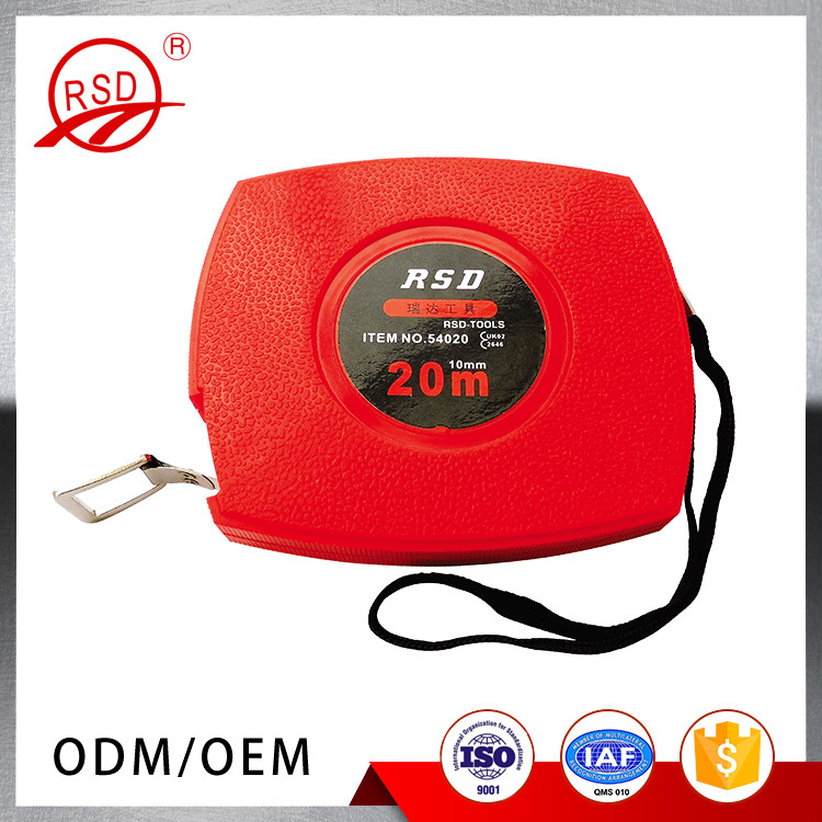 High Quality 20M 30M 50M Red Plastic Shell Retractable Steel Tape Measure